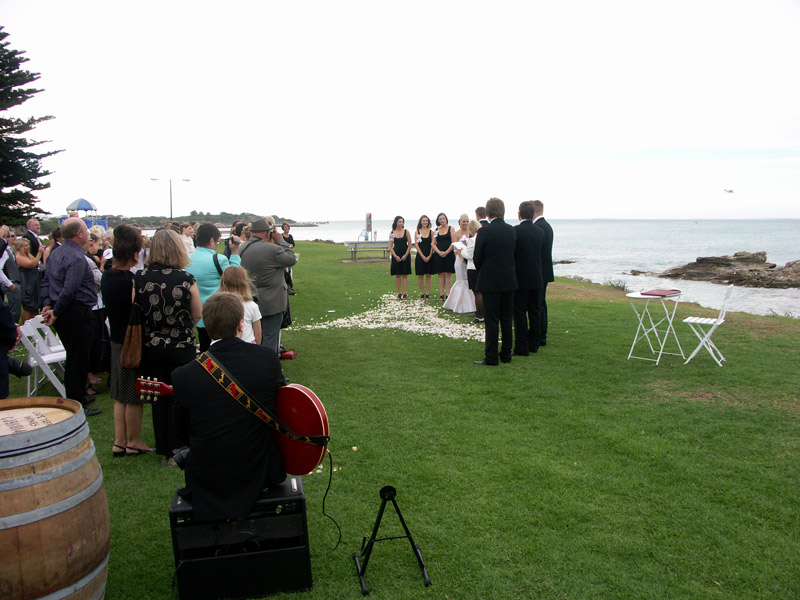 beach ceremony guitar